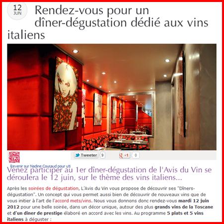 """les diners dégustation viennent s'ajouter à la diversification des activités du site L'avis du Vin"""""""