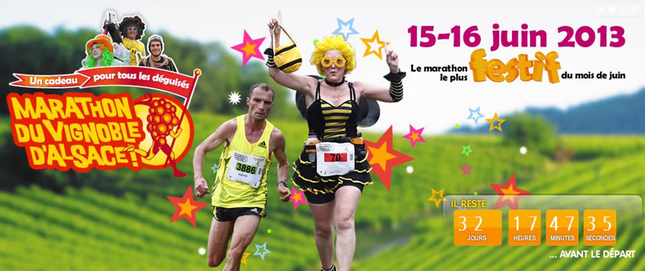 16-16 juin 2013, c'est le Marathon d'Alsace