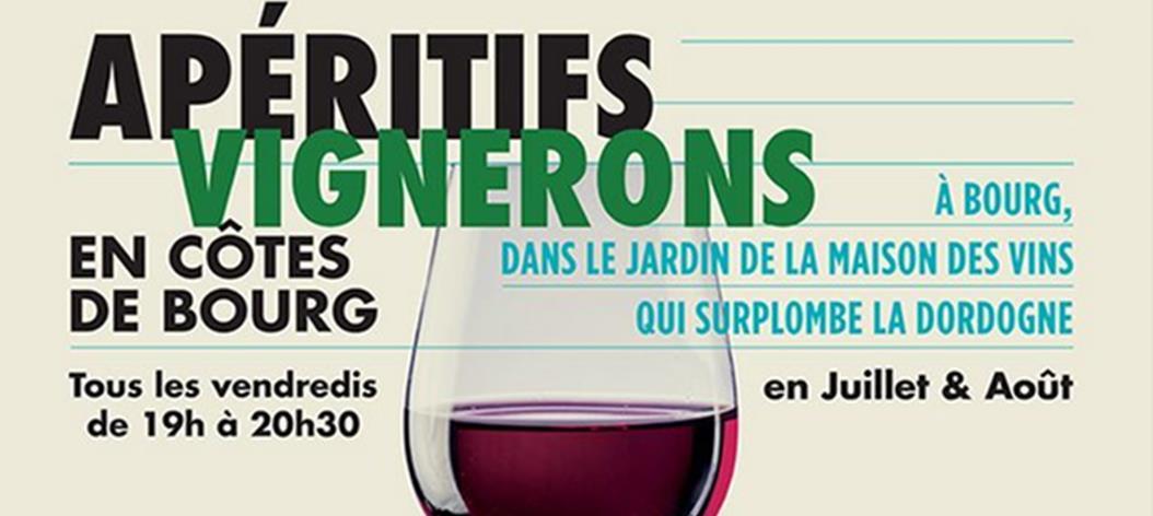 Côtes de Bourg : invitation aux apéritifs vignerons de l'été