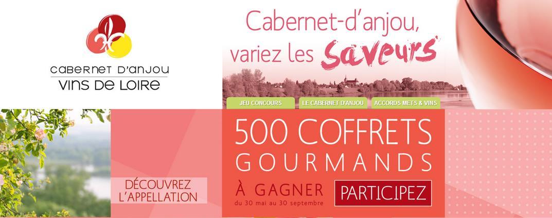 500 coffrets gourmands à gagner avec le Cabernet d'Aujou