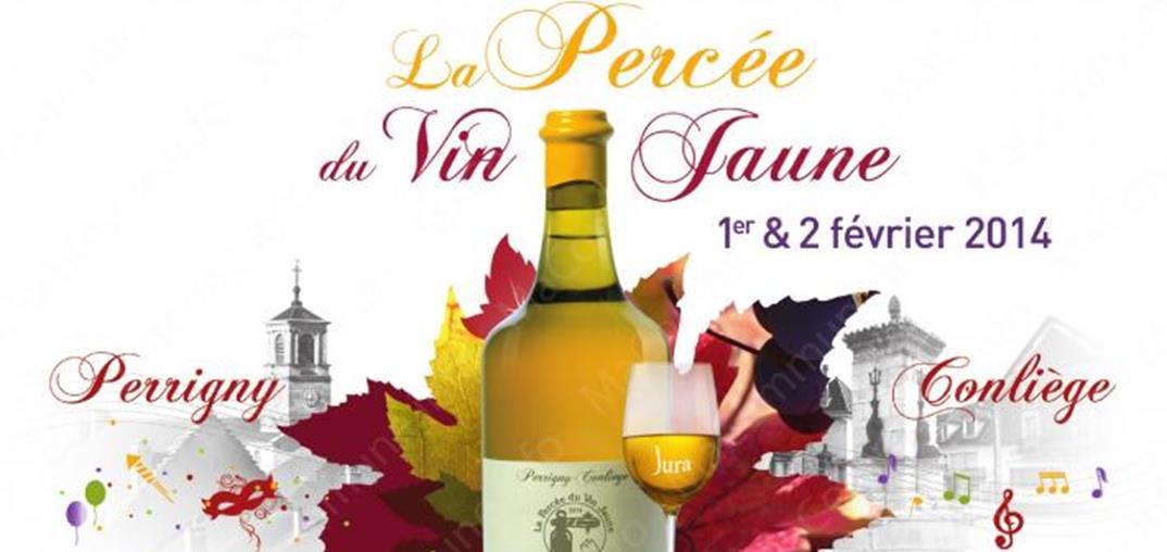 L'affiche de la Percée du Vin jaune 2014