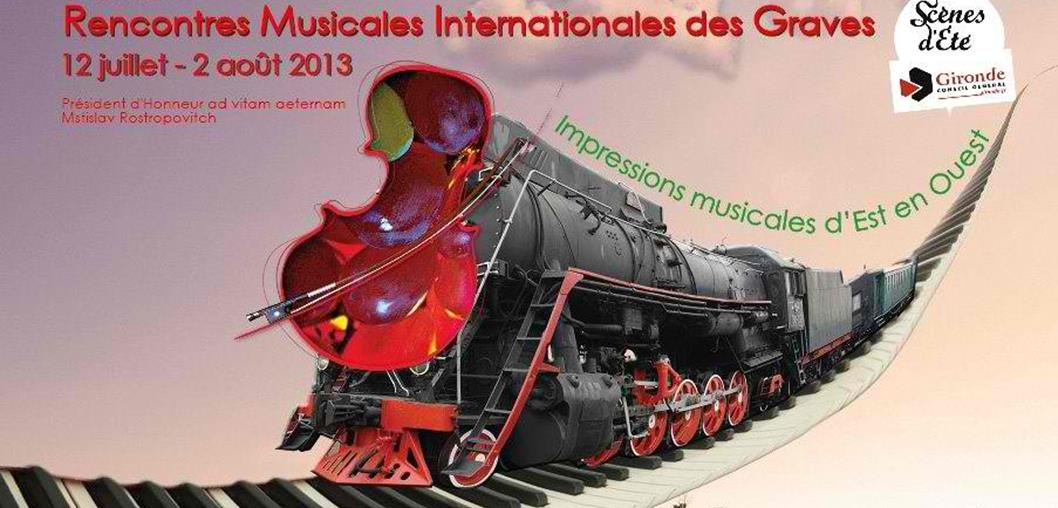 L'affiche des Rencontres INternationales Musicales des Graves