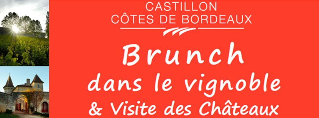 Castillon Côtes de Bordeaux et le brunch dans le vignoble