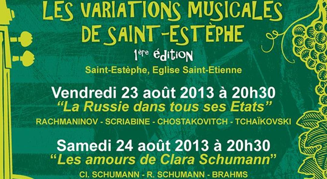 23 et 24 aout, les variations musicales de St Estèphe