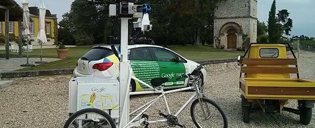 Les équipements de Street View dans les châteaux du Bordelais-Copyright Google France
