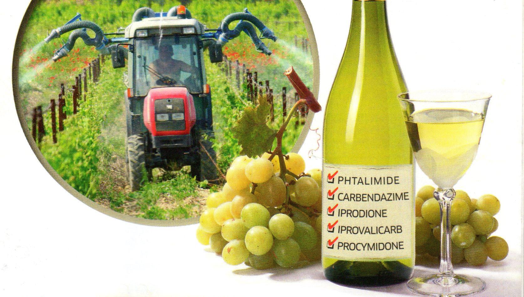 Couverture de Que Choisir sur les pesticides dans le vin