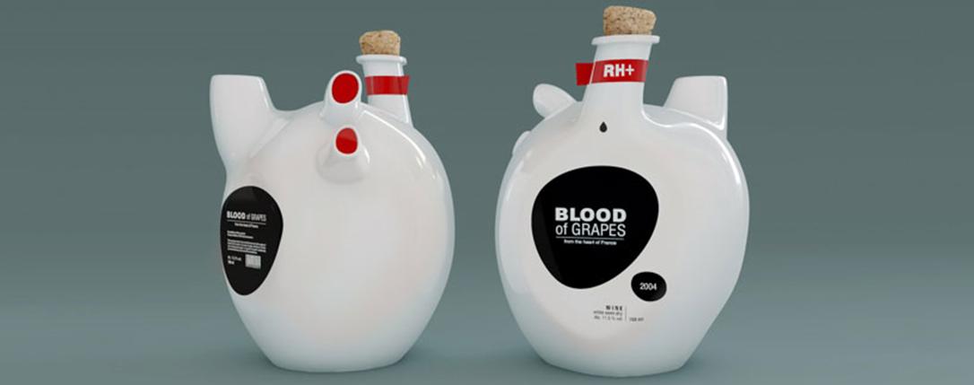 Constantin Bolimond crée pour Blood of grapes un contenant en forme de coeur