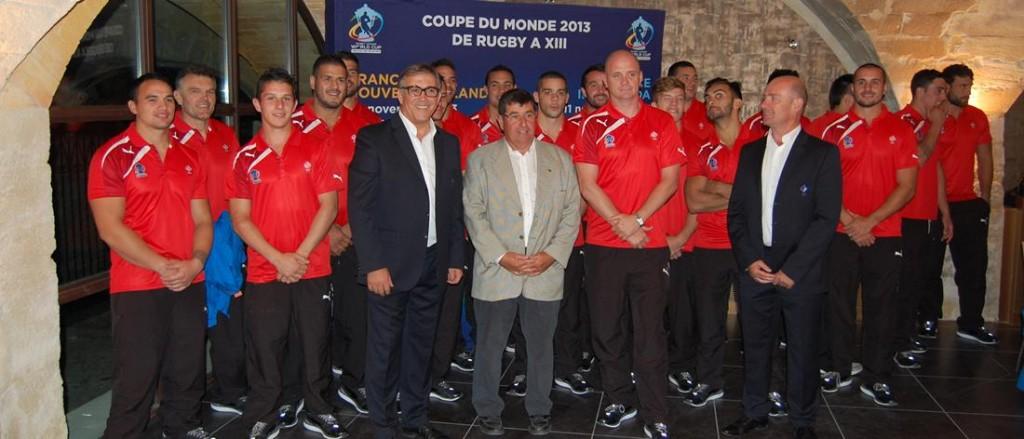 Les producteurs de Chateauneuf du pape accueillent l'équipe de France de Rugby à XIII