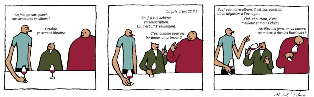 """La BD """"Mimi, Fifi et Glouglou"""""""