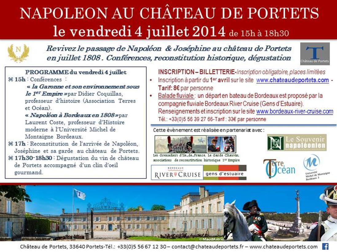 Napoléon et Joséphine au Château de Portets 4 juillet 2014