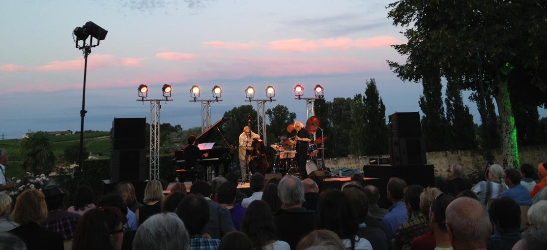 Aout 2014 au Château du Bousquet en Côtes de Bourg avec Jazz and Wine