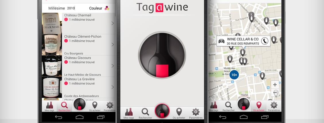 Tagawine, une appli multi fonctions