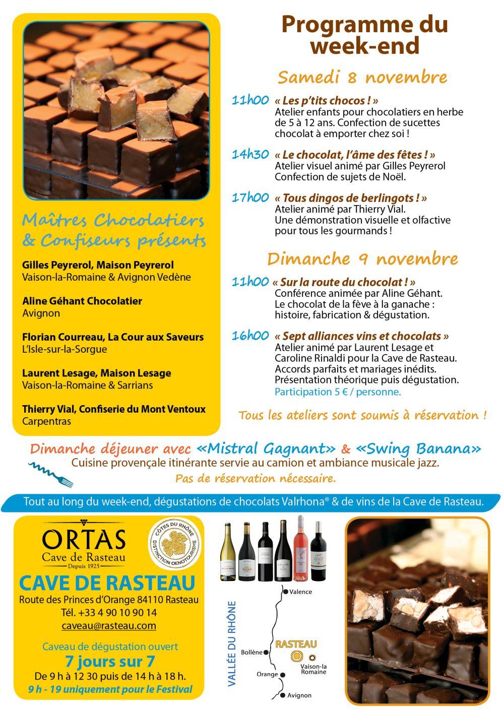 Le Festival Vins et Chocolat de la cave de Rasteau