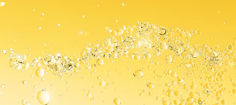 Les bulles et l'effervescence du champagne