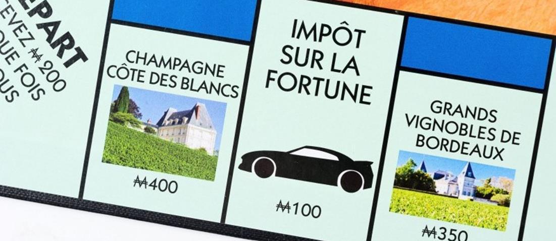Monopoly France Viticole investir et payer l'impôt sur la fortune