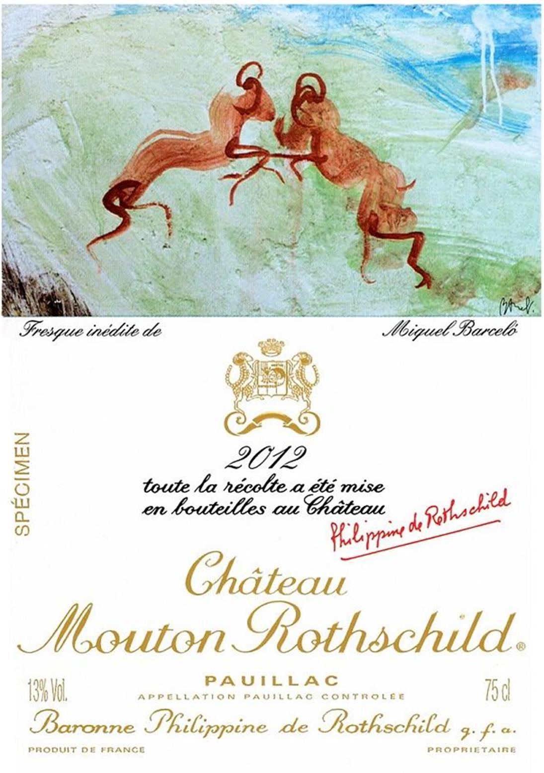 Château Mouton Rothschild 2012