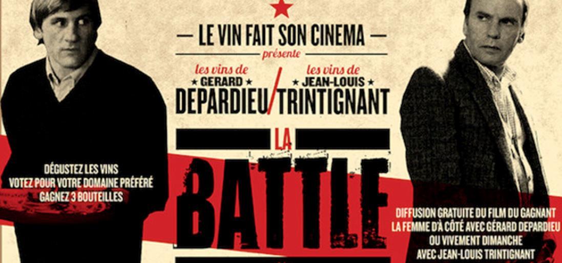Une battle Trintignant-Depardieu organisée par Le vin fait son cinéma