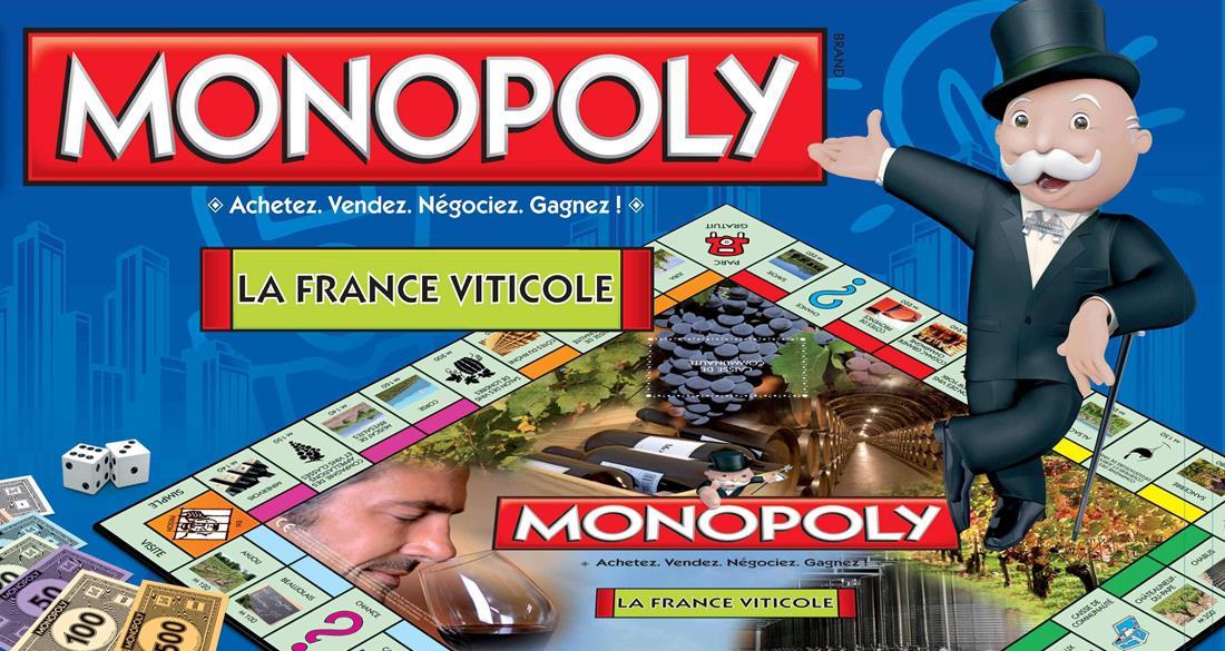 Le Monopoly qui permet d'acheter propriétés viticoles et caveaux de vente