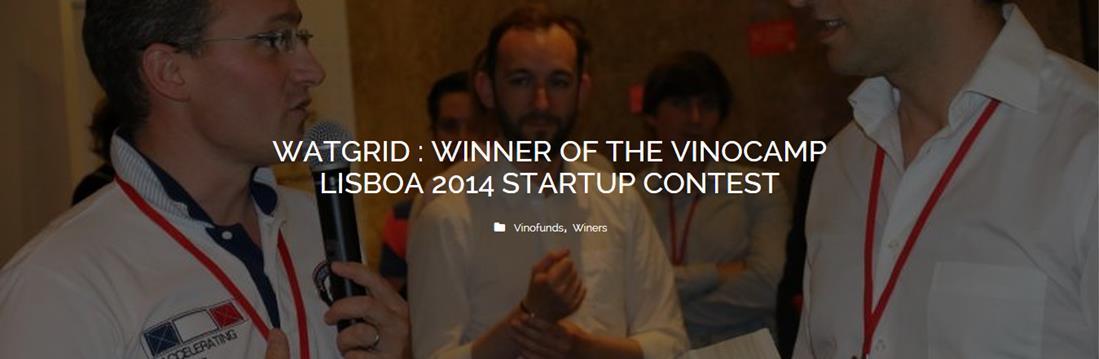Vinocamp LIsboa : Winegrip gagne le startup contest