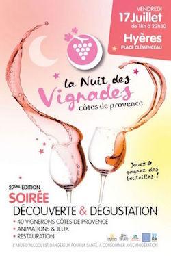 La Nuit des Vignades en Côtes de Provence à Hyères