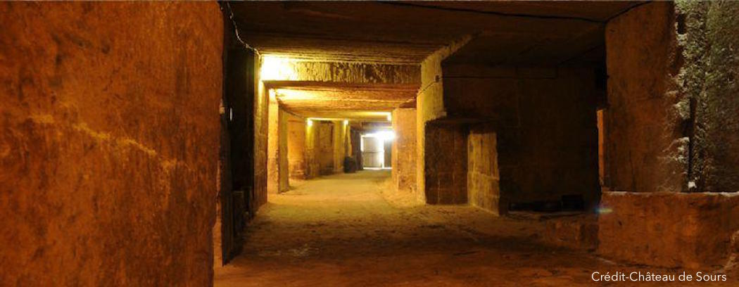 Des caves dans des carrières pour le château de Sours