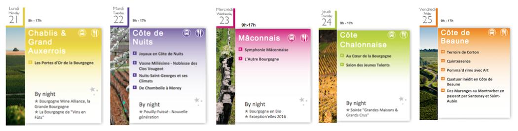Les Grands Jours de Bourgogne-Programme 2016