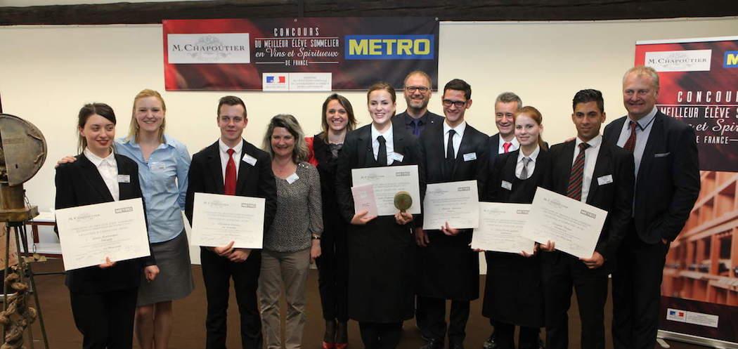 Les finalistes du Concours du meilleur eleve sommelier de France