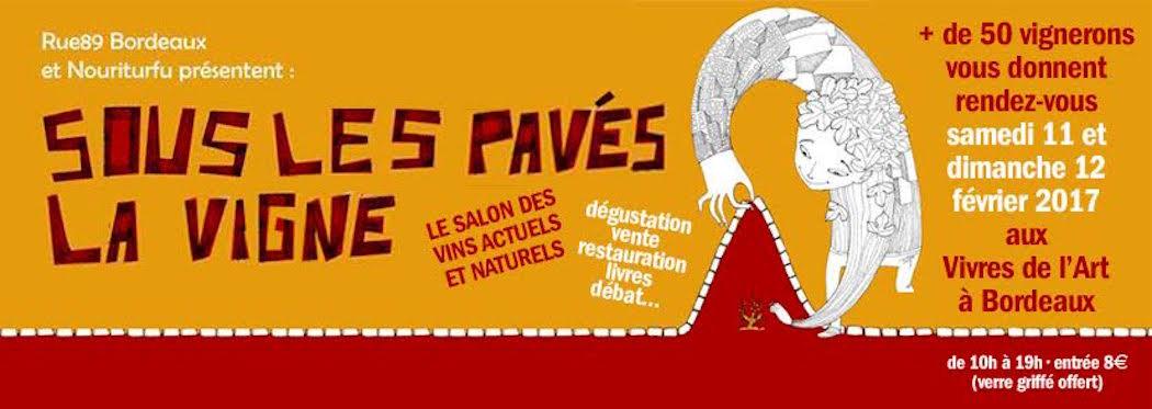 Sous les pavés la vigne à Bordeaux