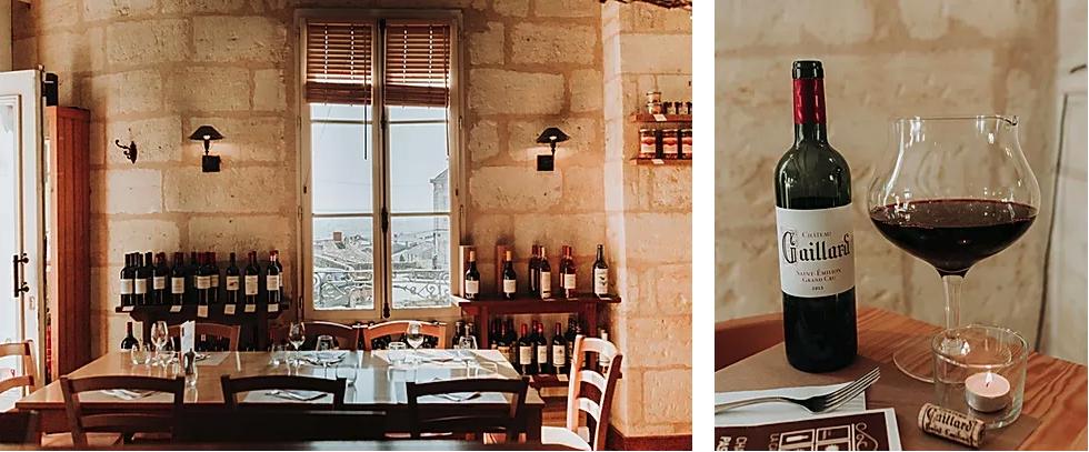 wines bar de St Emilion